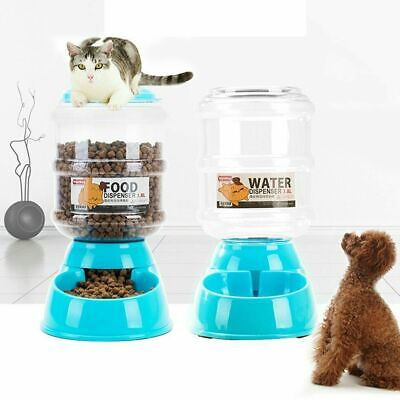 Safe Automatic Pet Feeder Food Dispenser Gravity For Cat Dog F/ Traveling C5Q4 Automatic Pet Dog Cat