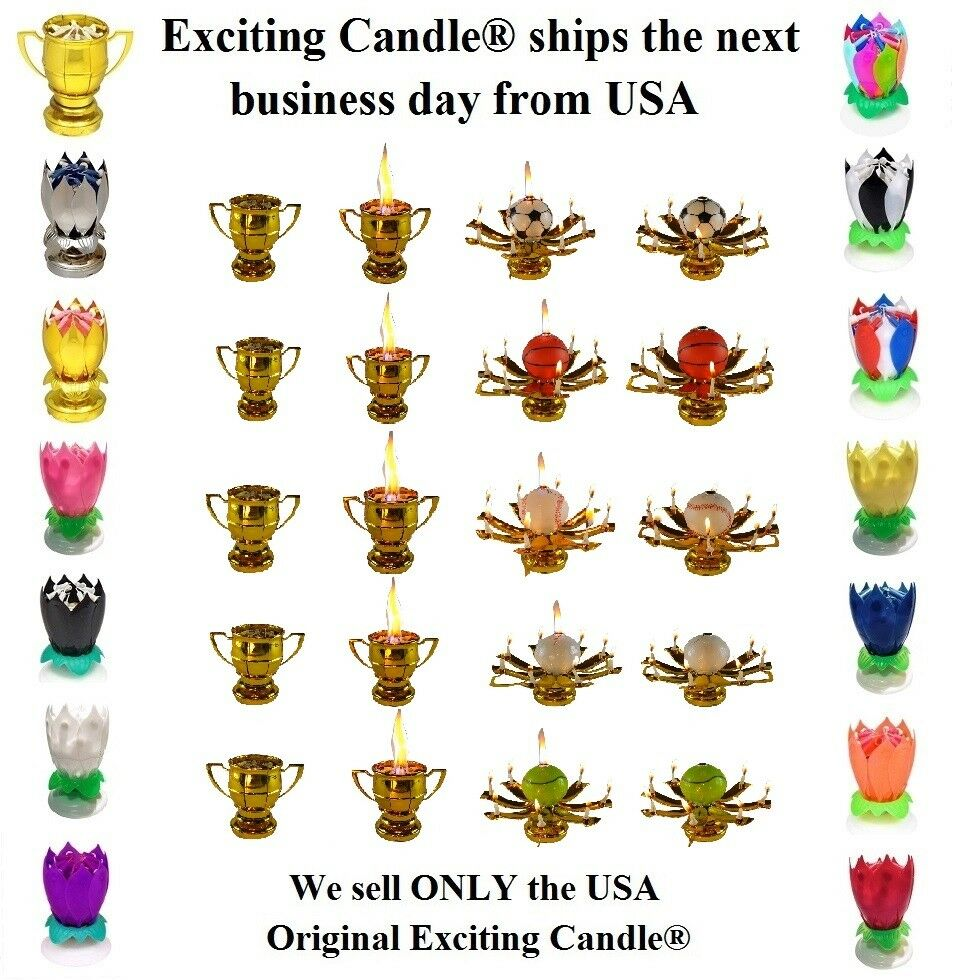 Amazing Lotus Flower Musical Birthday Candle - 18 DIFFERENT