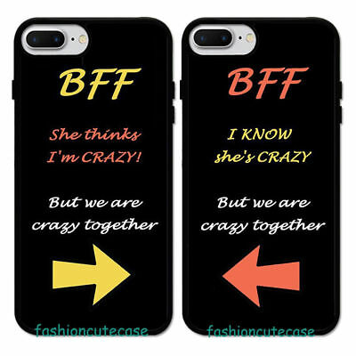 Best Friend BFF Couple Rubber Phone Case For iPhone 8 7 Plus 6S 5