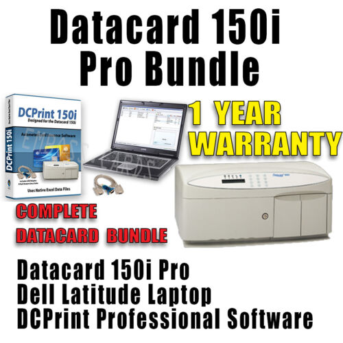 Datacard 150i Card Embosser | Topper | Rear Indenter | Mag Encoder LAPTOP BUNDLE