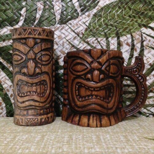 Treasure Craft Ku Tiki Mug Matching Set Cups Mask Statue Diablo Gecko Farm