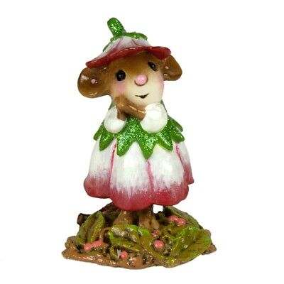 Wee Forest Folk   January Flower Mouse Of The Month M 640A