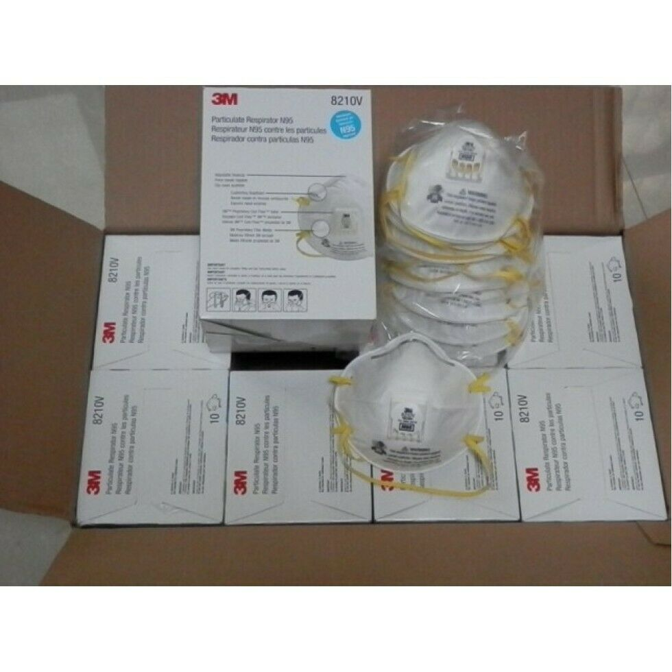 3M 8210V N95 Particulate Respirator, 1 Case 8 Boxes/80 Total Masks, EXP. 05/2026 Business & Industrial
