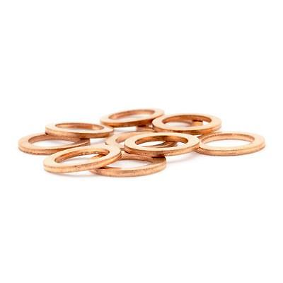 15x HEL Motorcycle Bike Car Brake Line Banjo Bolt Copper Crush Washers M10 hose