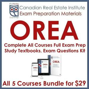 OREA Books Real Estate License Exam Tutor Course Textbooks, Actual Exam Questions & Study Notes Humber 2019 Licensing