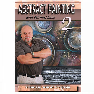 Art Instruction DVD '' Abstract Painting 2 '' Michael Lang How to - Michael Art Supply