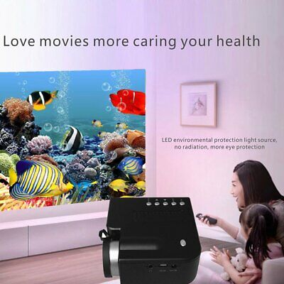 1080P Full HD LED Mini Portable Projector Home Theater Cinema AV  USB Lot ND