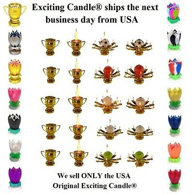 Amazing Romantic Magical Lotus Flower Happy Birthday Party Gift Musical Candle  - Magic Birthday Party