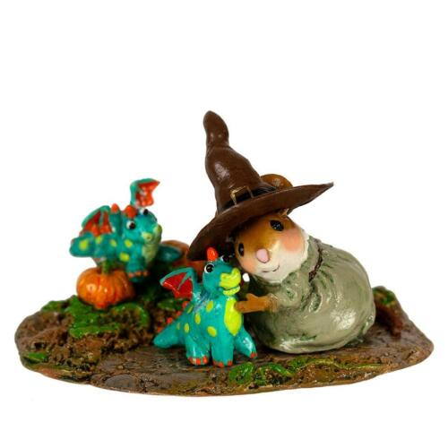 Wee Forest Folk PLAYING WITH DRAGONS, WFF# SA-3a, LTD Halloween Mouse 2019