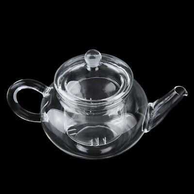 heat resistan glass teapot with infuser coffee