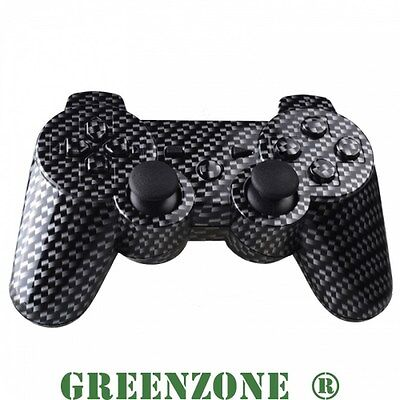 Custom PS3 Controller Hydro Carbon Fibre  Shell Mod Kit + Matching Buttons set