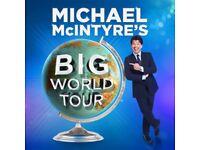 3x Michael mcintyre tickets 12/10/18