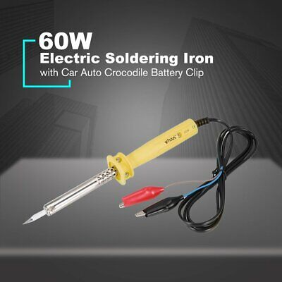 12v Dc 60w Car Auto Crocodile Battery Clip Powered Electric Soldering Iron Nd