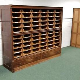 Antique early 20th century mahogany haberdashery unit