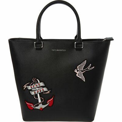 Karl Lagerfeld Black Shopper Tote Bag