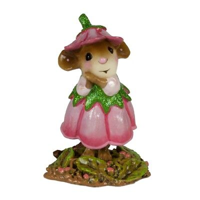 Wee Forest Folk   June Flower Mouse Of The Month M 640F
