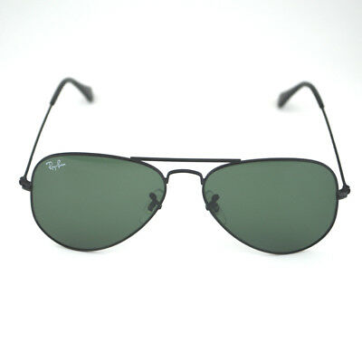 Ray Ban RB 3025 Aviator Classic W3235 Black Frame/ Green Classic G-15 Glass 55mm