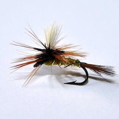 4 x Barbless Coch y Bonddu Dry Trout Fishing Quality Flies Sizes 12 14