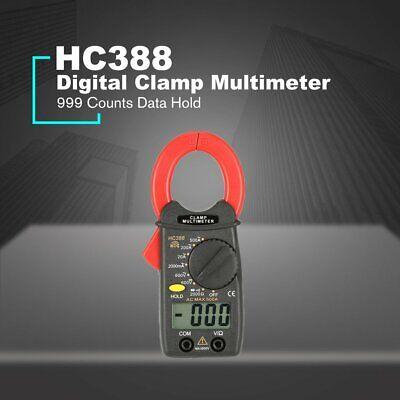 Hc388 Mini Digital Clamp Meter Multimeter Acdc Volt Amp Ohm Tester 1999 Count N