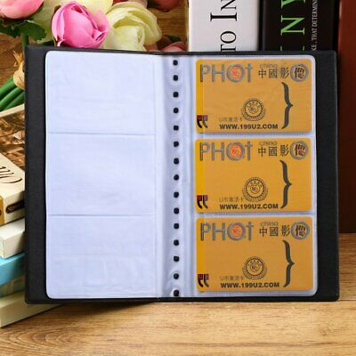 120 Sheets Business Name Id Bank Credit Cards Holder Book Case Organizer Kw