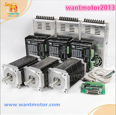 EU Free! Wantai 3 Axis Nema34 Stepper Motor 1090oz-in 5.6A &Driver 7.8A CNC Mill