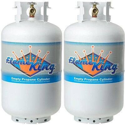 Twin Pack 30 Lb. Vertical Propane Cylinder Refillable Steel tank with OPD Valve
