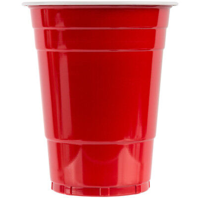 1000 CASE Red 16 Oz Plastic Party Drink Beer Pong Cold Solo Cup  - Yard Cup