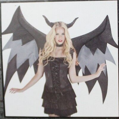 INFLATABLE DEMON WINGS ACCESSORY Halloween Costume Adult Men Women Airblown - Halloween Costume Demon Wings