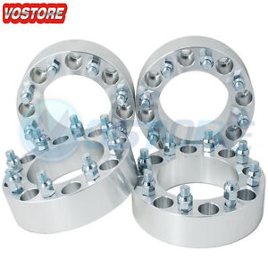 (4) 2'' 8 Lug Wheel Spacers Adapters 8x6.5 for Chevy C/K 2500/3500 GMC Sierra