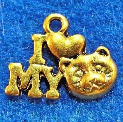 "Подвески 10Pcs. Tibetan Antique Gold """