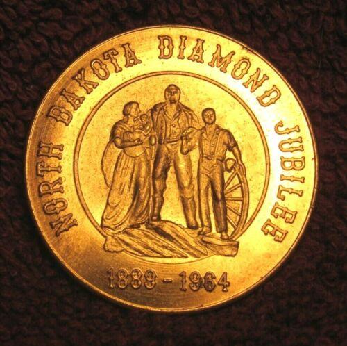 1964 North Dakota Diamond Jubilee, 75th Anniv. N.D. Statehood, Half Dollar Coin