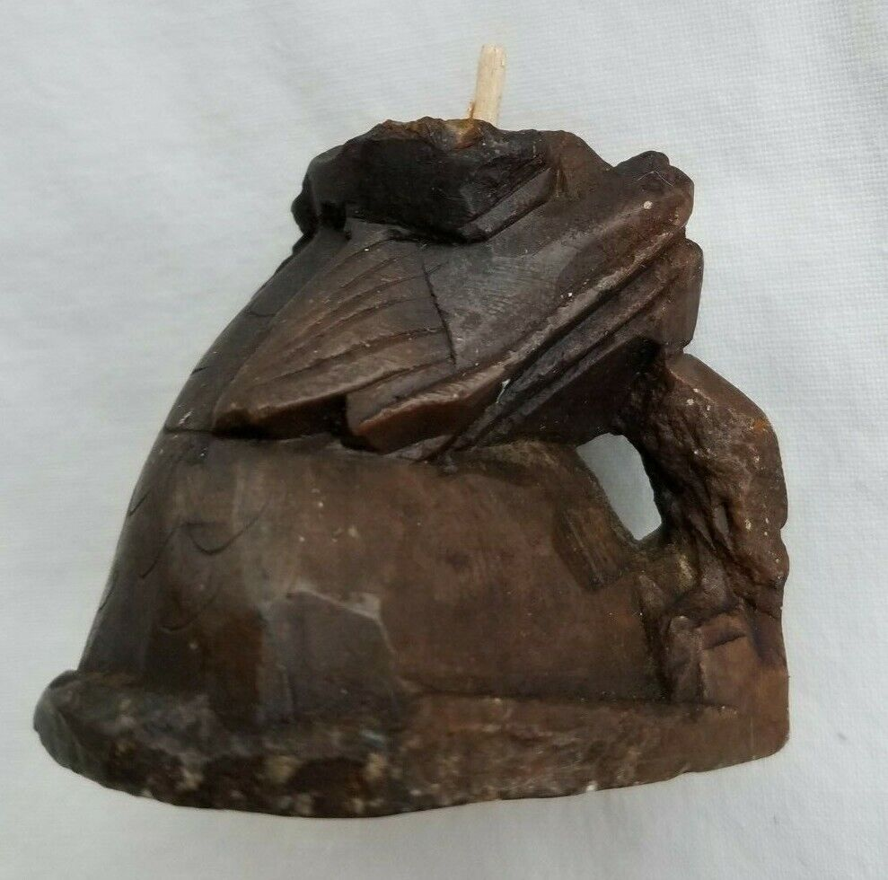 Antique 19th c Chinese Carved Soapstone Immortal on Carved Base