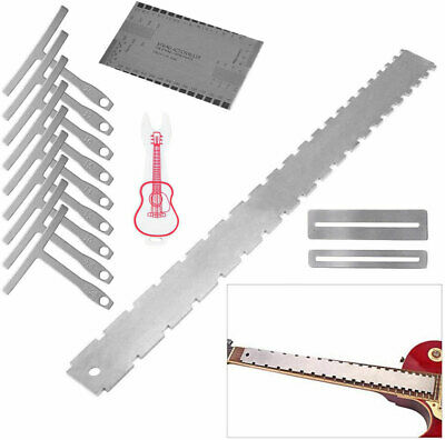 Guitar Neck Notched Straight Edge Luthiers Tool & String Action Gauge Ruler