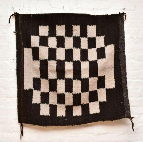 VTG Navajo Saddle Blanket Rug native american indian Transitional ANTIQUE 36x36