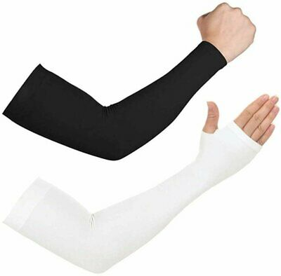 1 Pair Cooling Arm Sleeves Cover UV Sun Protection Outdoor Sports For Men Women Basketball