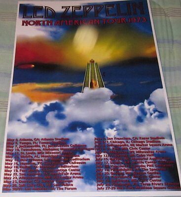 LED ZEPPELIN 1973 TOUR STAIRWAY TO HEAVEN REPLICA CONCERT POSTER