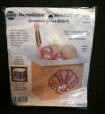Needlemagic  Inc Counted Cross Stitch Kit Decorative Container Nmi 1551 Seashell