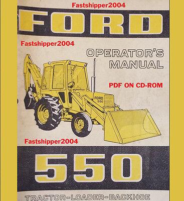 Ford 550 Tractor Loader Backhoe Operators Manual Op Owner Operator Ship Fast Cd