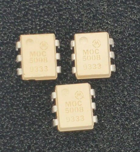(3 PCS) MOC5008  MOTOROLA OPTOCOUPLER