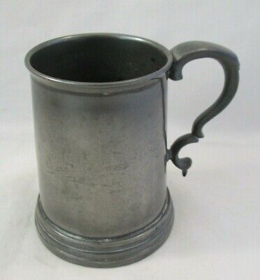 Vintage Half Pint Pewter Tankard with Glass Bottom - Monsey, Cambridge