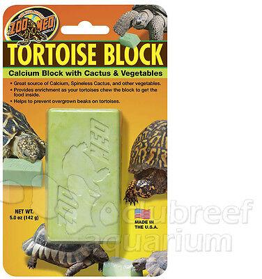 Tortoise Banquet Block Vegetable Cactus Calcium Food Beak Supplement Zoo Med Lg