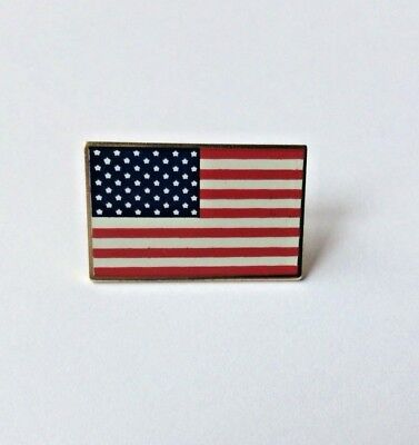 AMERICAN FLAG LAPEL PIN MADE IN USA Hat Tie Tack Badge Pinback VOTE - Flag Pin