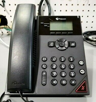 Used Polycom Vvx150 Voip Desktop Telephone No Power Adapter