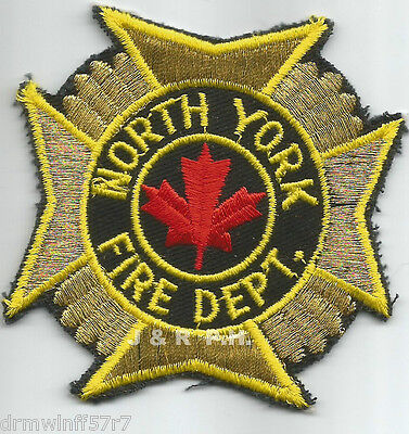 """Defunct - North York, Ontario, Canada  (3"""" x 3"""" size)  fire patch"""