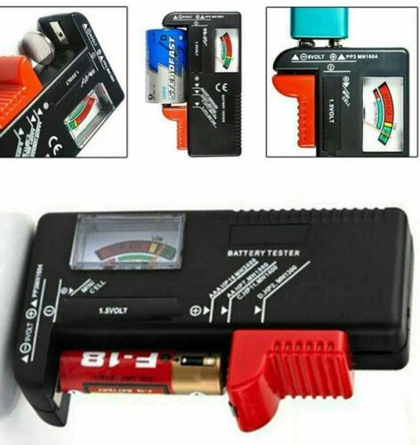 Battery Volt Tester Checker Universal Button Cell Battery Tester AA/AAA/C/D/9V