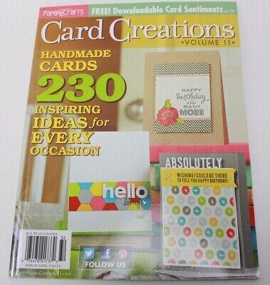 Card Creations Volume 10 Paper Crafts Magazine 2013  - 230 Handmade design ideas](Paper Crafts Ideas)
