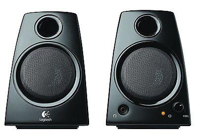 Logitech Speakers Compact Black Desktop Computer Laptop S...