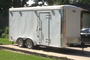 Enclosed Trailer 16 ft long x 7 ft tall - like new