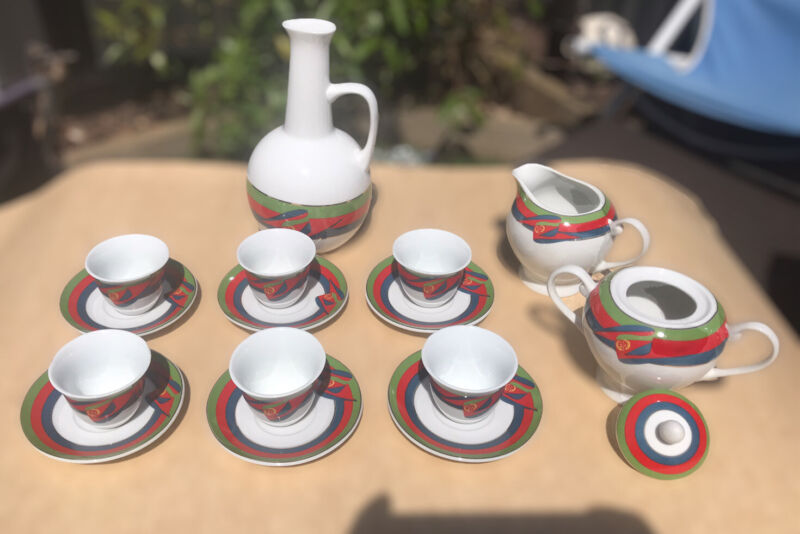 Ethiopian / Eritrean Coffee Cup Sets / Traditional Coffee Ceremony Set 22 PCS