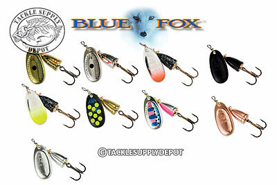 Blue Fox Inline Spinner Classic Super Vibrax Blade Size #3 - Pick